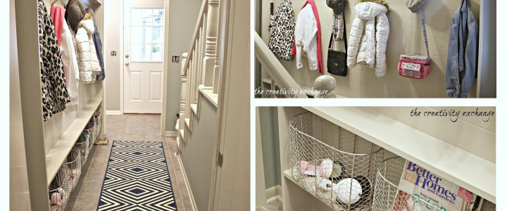 DIY Hallway Mudroom
